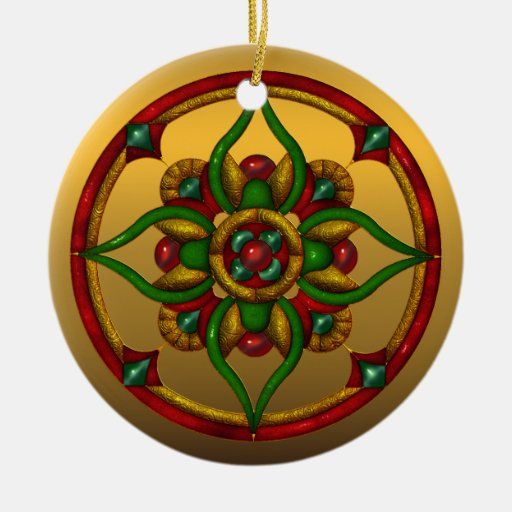 Festive Ohio State Christmas Ornament