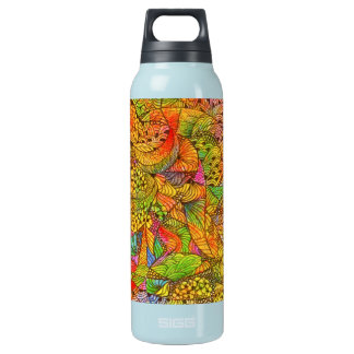 Festive Orange Doodle 16 Oz Insulated SIGG Thermos Water Bottle