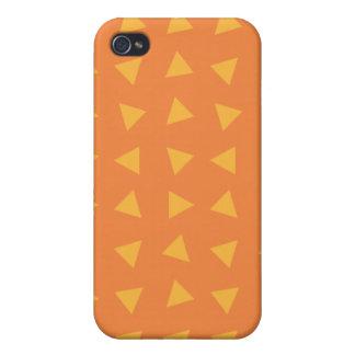 Festive orange triangles iPhone 4/4S covers