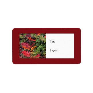 Festive Oregon Grape Holiday Gift Label