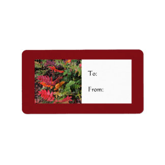 Festive Oregon Grape Holiday Gift Label