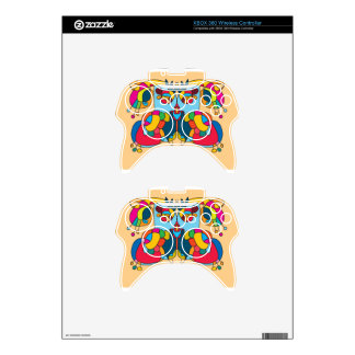 festive owl going to a party xbox 360 controller decal