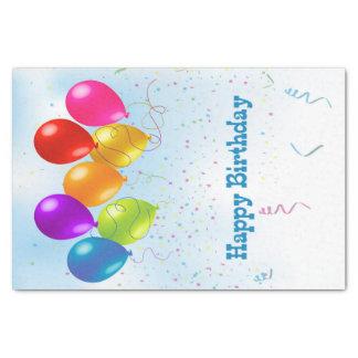 Festive Party Balloons, Confetti Tissue Paper