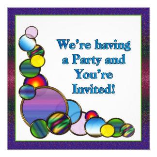 Festive Party Invitation Custom Announcements
