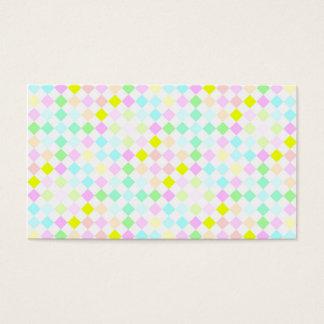 festive pastel checks pattern, name card