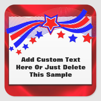 Festive Patriotic Sticker Seals