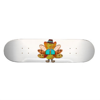 Festive Patterned Pilgrim Turkey Skateboard