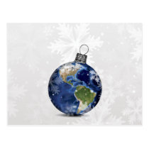 festive Peace on Earth ornament Holiday cards