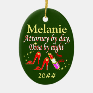 FESTIVE PERSONALIZED AND DATED LAWYER ORNAMENT