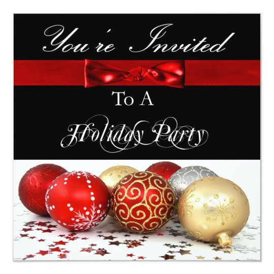 Festive Personalized Holiday Party Invitation