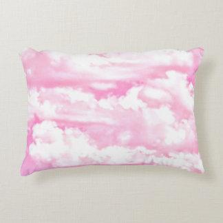 Festive Pink Clouds Decorative Pillow