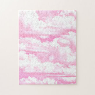 Festive Pink Clouds Jigsaw Puzzle