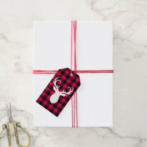 Festive Plaid Pattern Gift Tags