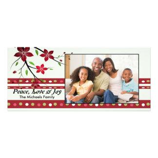 Festive Poinsettia Photo Card