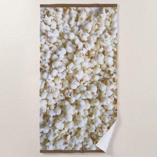 Festive Popcorn Decor on a Beach Towel