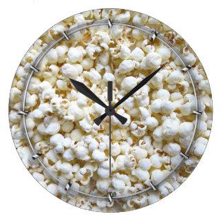 Festive Popcorn Decor Photography Large Clock