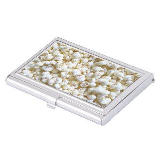 Festive Popcorn Texture Photography Decor Business Card Holder