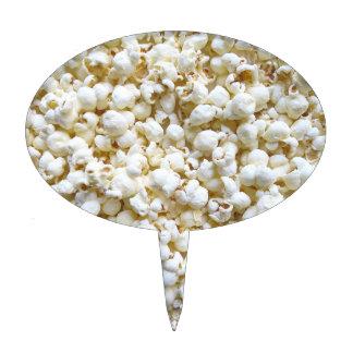 Festive Popcorn Texture Photography Decor Cake Topper