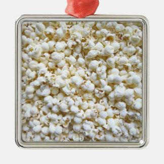 Festive Popcorn Texture Photography Decor Metal Ornament