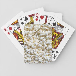 Festive Popcorn Texture Photography Decor Playing Cards