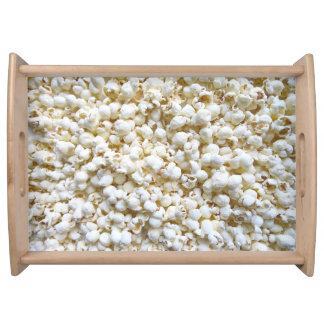 Festive Popcorn Texture Photography Decor Serving Tray