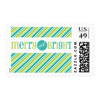 FESTIVE POSTAGE STAMPS  :: merry & bright 4