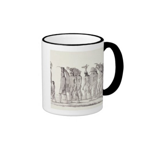 Festive Procession of the Tecunas, from 'Travels i Ringer Coffee Mug