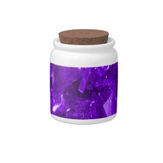 Festive Purple Foil Candy Jars