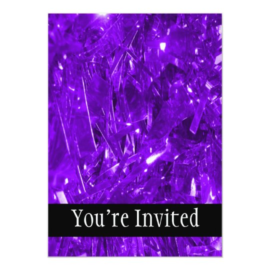Festive Purple Foil Card