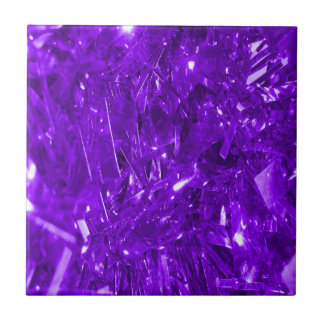 Festive Purple Foil Tiles