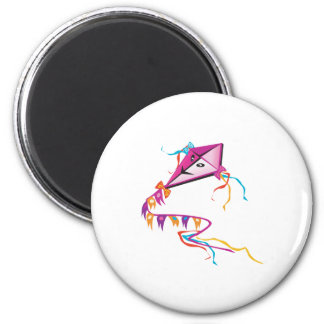 Festive Purple Kite Magnet