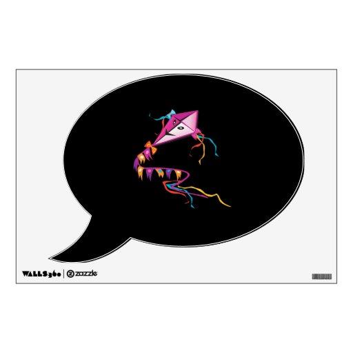 Festive Purple Kite Wall Sticker