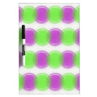 Festive Purple & Lime Green Pattern Dry-Erase Board