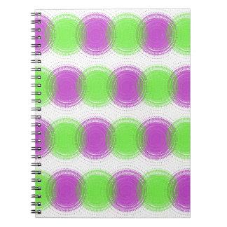 Festive Purple & Lime Green Pattern Notebook