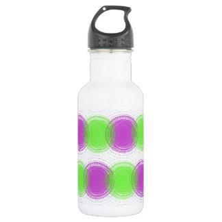 Festive Purple & Lime Green Pattern Water Bottle