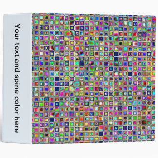 Festive Rainbow Textured Mosaic Tiles Pattern Binder
