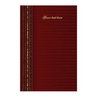 Festive red and golden design stationery