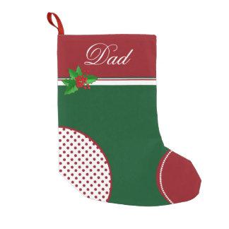 Festive Red and Green Custom Christmas Stocking Small Christmas Stocking