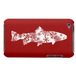 Festive Red and White Snow Trout Barely There iPod Cases