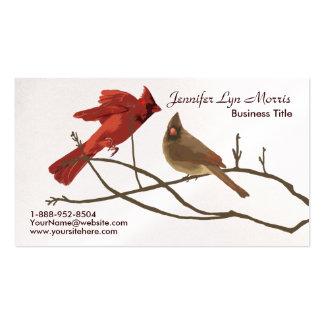 Festive Red Cardinals Business Card Template