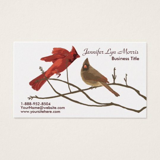 Festive Red Cardinals Business Card