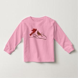 Festive Red Cardinals Toddler T-shirt