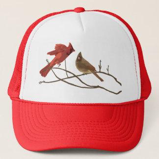 Festive Red Cardinals Trucker Hat