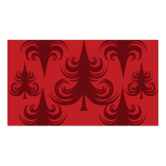 Festive Red Christmas Tree Holiday Xmas Design Double-Sided Standard Business Cards (Pack Of 100)