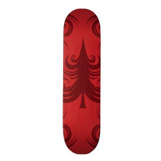 Festive Red Christmas Tree Holiday Xmas Design Skate Deck