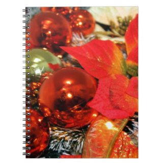 Festive Red Decorations Note Books