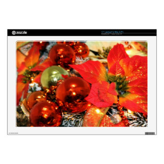 Festive Red Decorations Laptop Decals