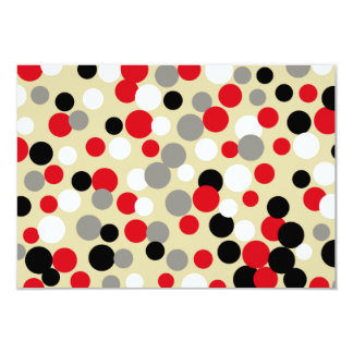 Festive Red Dots Invitations