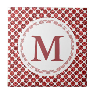 Festive Red Double Dots Pattern Tiles