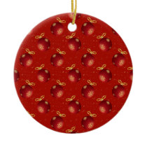 Festive Red Gold Ornaments